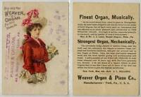 (Gj185-276) Weaver Organ & Piano Co., USA Advert, 1898 G