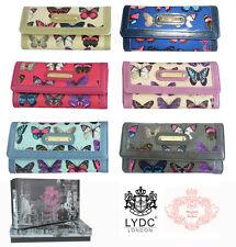 Womens Purse Butterflies Oilcloth Patent Ladies Zipp Wallet Boxed Gift Designer