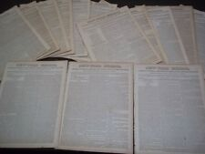 1836-1839 THE NEW-YORK MIRROR NEWSPAPER LOT OF 23 - SHEET MUSIC+ - NP 1494