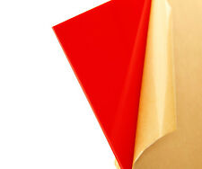 "Red Translucent Acrylic Plexiglass sheet 1/8"" x 12"" x 12"" #2157"