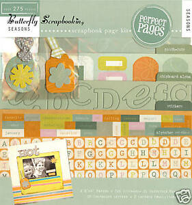 SEASONS Collection 8X8 Scrapbooking Kit Paper Stickers Chipboard COLORBOK NEW