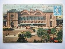 """CPA """"Paris - Gare Montparnasse - Place de Rennes"""""""