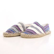 NEW WOMENS Sz 9 CHINESE LAUNDRY HAYDEN FLAT STRIPED CANVAS ESPADRILLE SHOES JUTE