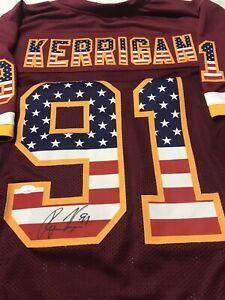 Ryan Kerrigan Style Autographed Custom Stars And Stripes Jersey JSA FREE SHIP