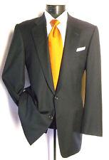 "Hickey Freeman Men's Navy Blue  stripe 2Button Suit 40L Pants 33""W x 31 1/2"" L"