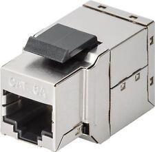 Goobay Cat 6 A Keystone modulaire couple STP Silver-Noir 2x RJ45 femelle (8P8C)