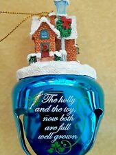 """Christmas Carol Jingle Bell Ornament By The Danbury Mint """"The Holly and The Ivy"""""""