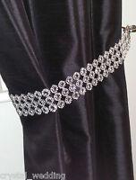 Pair (x2) Of Diamante Flower Effect Crystal curtain Tie Backs 5cm wide NO STONES
