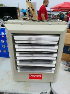 DAYTON 5kW, Electric Wall & Ceiling Unit Heater, 480V AC, 3-phase, Air Temp.