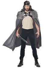 Dragon Master Viking Medieval Warrior Renaissance Grey Men Costume Cape