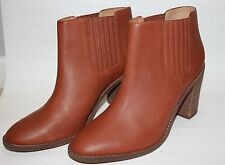 Madewell The Ryan Chelsea Boots Size 11 Dark Chestnut Leather Shoes $238 #e2331