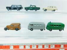 AV290-0,5# 6x Brekina H0 Modell: DKW+Volkswagen/VW Bully+Ford+Mercedes-Benz/MB