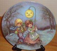 Goebel Christmas Starglow Plate by Lore Christmas in Kinderland Series 1985