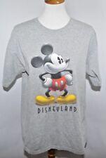 Vtg Disneyland Classic Mickey Mouse T- Shirt Grey Crew Short Sleeve Women's L