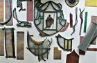 ANTIQUE+OLD+HERALDIC+STAINED+GLASS+WINDOW+PIECES