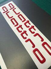 QUATTRO Audi AUFKLEBER, SEITENAUFKLEBER 2 Stk 3d gel FOLIE ROT glänzendes