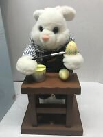 Easter Animated Bunny At The Workbench Karate Rabbit White Gemmy Toy