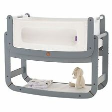 Snuz SnuzPod Bedside Baby Nursery Bedtime Bassinet Crib - 3 in 1 - Dove Grey