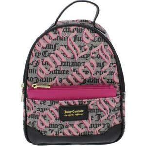 Juicy Couture Glam Out Women's Faux Leather Printed Backpack with Pull Out Pouch