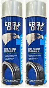 (2) Eagle One Tire Shine Spray Can Pro Epic Shine Formula Last for Days 16 oz