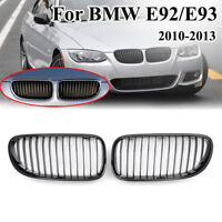 Front Kidney Grille Grill For BMW E92 E93 Facelift 3-Series 2D 10-13 Gloss Black