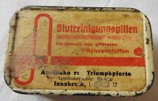 30er Jahre Pillendose Blutreinigungstabletten aus Pflanzen - Apotheke Innsbruck