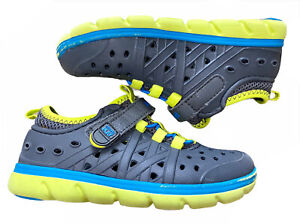 Stride Rite Phibian Kids Youth Boys Gray And Green Sneaker Water Shoe Size 10.0