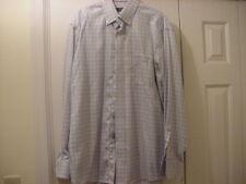 Mens Eton of Sweden Dress Shirt Size 41 (16) Blue Gingham check Ganghester 1928