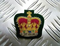 Genuine British Army Dress Braided WO2 Warrant Officers Class 2 on Green