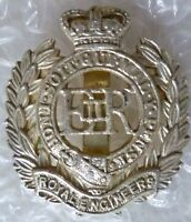 Staybrite Royal Engineers Corps Cap Badge QC Anodised (A/A*)