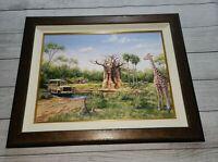 Disney Parks ANIMAL KINGDOM SAVANNA Larry Dotson LE Framed Canvas Giclee Safari