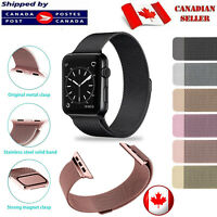 Magnetic Stainless Milanese Apple Watch Band Loop Strap for Series 1 2 3 4 5.