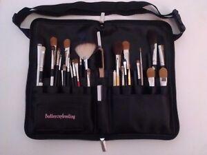 (10 pcs)Makeup Brush Foldable PU Artist Cases 28pocket leather Belt Strap Holder