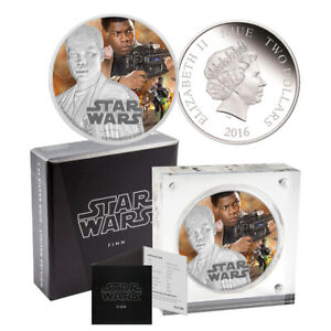 2016 Star Wars Finn Silver Proof $2 Coin - The Force Awakens