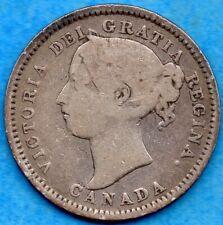 Canada 1888 10 Cents Ten Cent Silver Coin - Good+