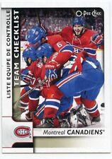 17/18 O-PEE-CHEE OPC TEAM CHECKLIST #576 MONTREAL CANADIENS WEBER RADULOV *39189