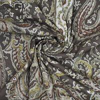 """43 """"Wd Brauner Stoff Paisley-Print Handwerk Nähen Bekleidung Kleid Von Der Werft"""