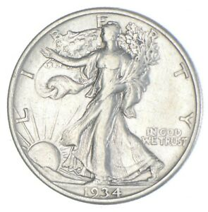 Razor Sharp - 1934 Walking Liberty Half Dollar - Look it up! *275