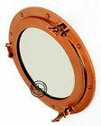 """11"""" Copper Finish Brass Porthole Mirror Nautical Ship Cabin Boat Window Porthole"""