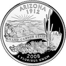 Quarter Dollar Arizona 2008 D Unc./ 7910019##