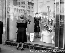 A Hollywood Window Display of easter Hats - 1940s - Historic Photo Print