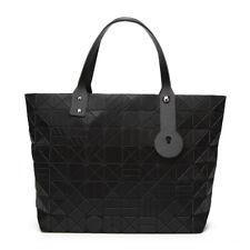 New Women Laser Matte Black Tote Bags Geometry Diamond Lattice Hologram Handbags