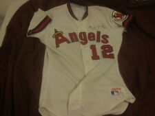 1990 Mark Langston California Angels Game Used Autographed Home Jersey #12