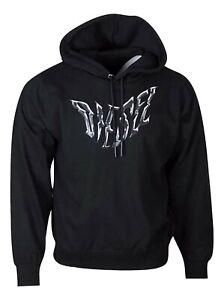 Diesel Men's Hoodie Logo Denim Sweater Pullover Long Sleeve Regular Fit - Black