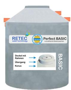 Betonzisterne 9200 l  Regenwasser Nutzung Wasserbehälter begehbar Regentonne