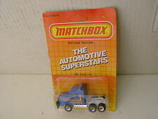 1987 MATCHBOX SUPERFAST #8 MB8 BLUE SCANIA T-142 TRACTOR TRUCK NEW ON CARD
