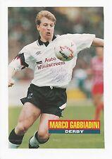 Marco GABBIADINI Derby County 1991-1997 originale firmato a mano taglio annuale
