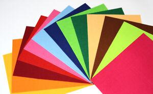 Filzplatten 375x500mm, 3mm stark 52 Farben Bastelfilz Filzplatte Polyesterfilz