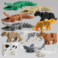 1Set Crocodile Tiger Cow Animal Buildable Model kids Animal Building Block To ca