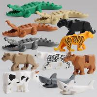 1Set Crocodile Tigre Vache Animal Construire Modèle Enfant Jouet Bloc Bâtimen FE